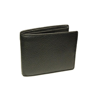 Castello Black Nappa Leather Flip Billfold Wallet