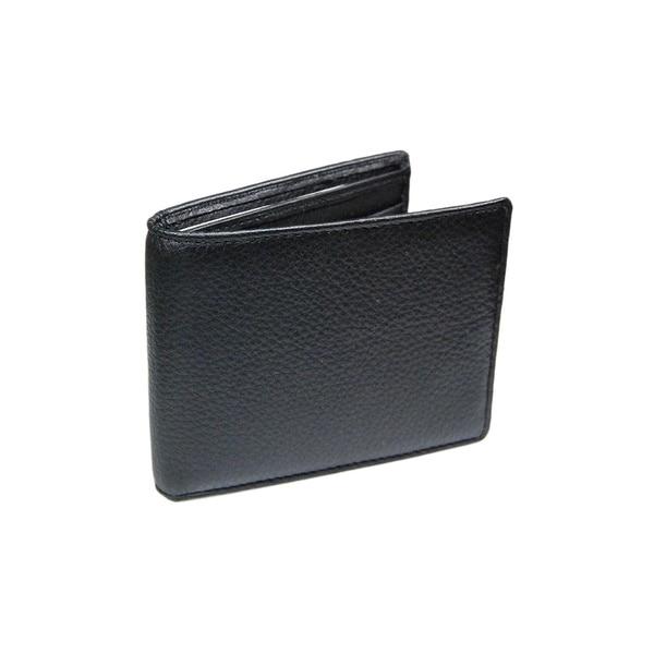 Castello Black Nappa Leather Slim Bifold Wallet