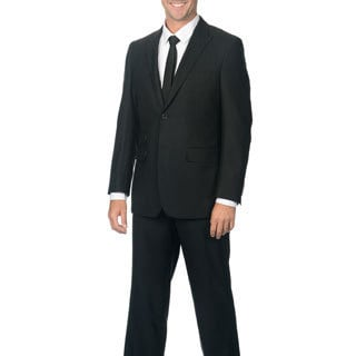Nicole Miller Men's Black Tone on Tone Wool Suit