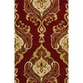 nuLOOM Handmade Royal Damask Red Wool Rug (3'6 x 5'6)
