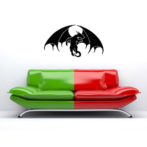 Dragon with Wings Vinyl Wall Decal