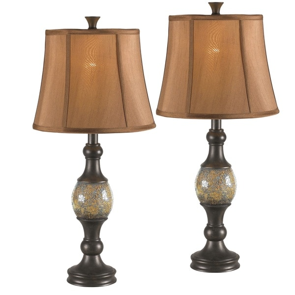 nantes 1 light oil rubbed bronze table lamp set of 2. Black Bedroom Furniture Sets. Home Design Ideas