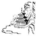 Pagoda Vinyl Wall Decal