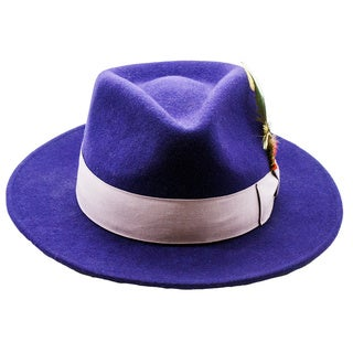 Ferrecci Men's Purple/Lavender Fedora Hat