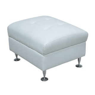 Megan White Storage Ottoman