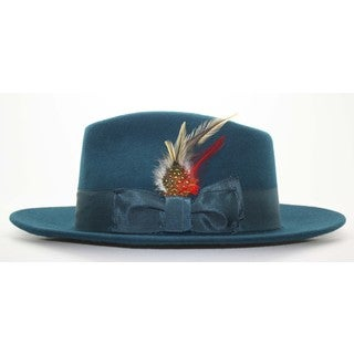 Ferrecci Men's Teal/ Blue Fedora Hat