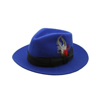 Ferrecci Men's Royal Blue/ Navy Fedora Hat