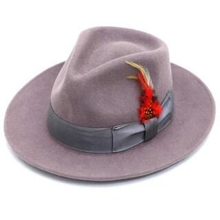 Ferrecci Men's Lavender Fedora Hat