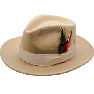 Ferrecci Men's Tan Fedora Hat