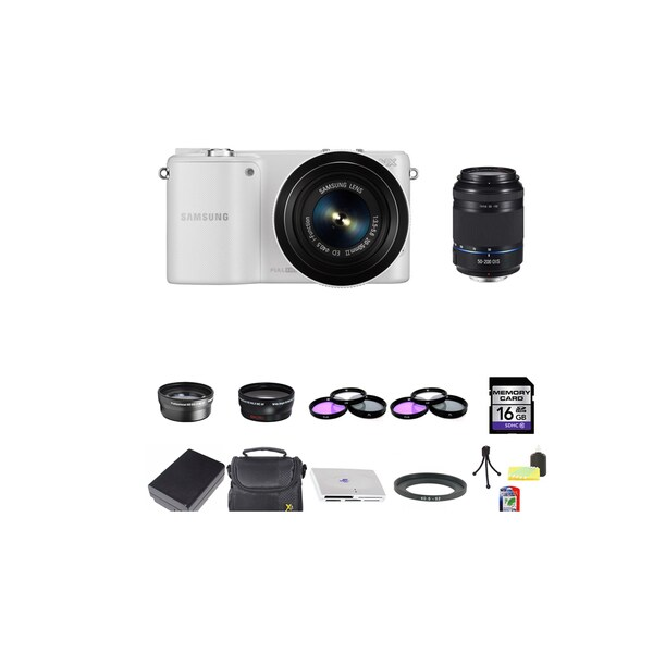 Samsung NX2000 Mirrorless Camera 20-50mm and 50-200mm Lens 16GB Bundle