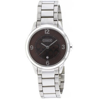Coach Women's Classic Black/Silvertone Watch