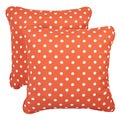 Orange Dots Corded Indoor/ Outdoor Square Pillows (Set of 2)