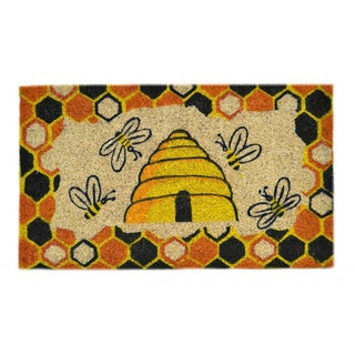Beehive Orange and Yellow and Black Doormat