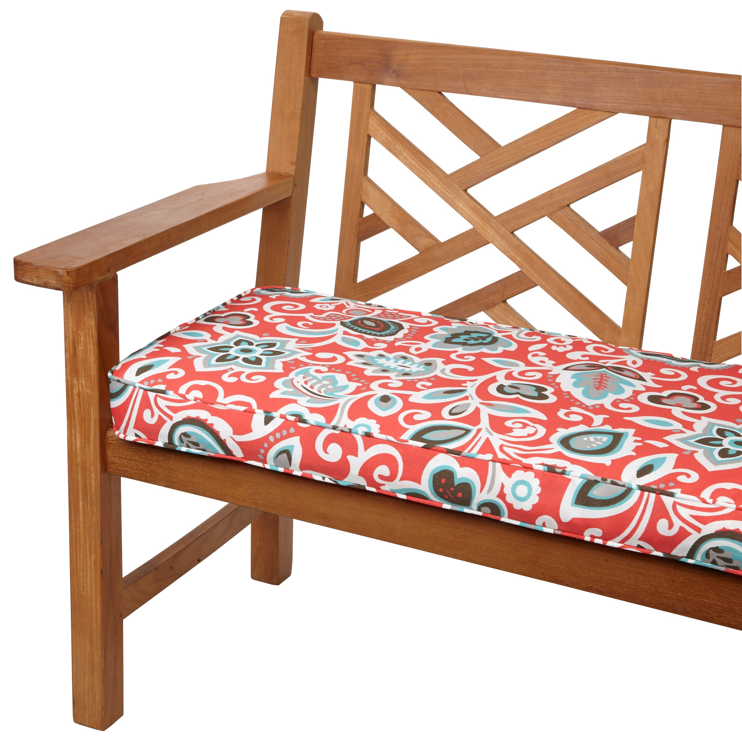 Floral Coral 48-inch Indoor/ Outdoor Corded Bench Cushion at Sears.com
