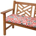 Floral Coral 48-inch Indoor/ Outdoor Corded Bench Cushion