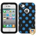 BasAcc Natural Black/ Polka Dots TUFF Case for Apple iPhone 4/ 4S