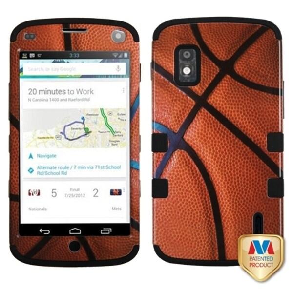 BasAcc Basketball/ Black TUFF Case for LG E960 Nexus 4