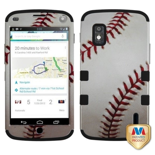 BasAcc Baseball/ Black TUFF Case for LG E960 Nexus 4