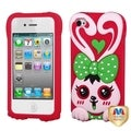 BasAcc Green/ Red Rabbit Case for Apple iPhone 4/ 4S