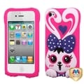 BasAcc Dark Purple/ Hot Pink Rabbit Case for Apple iPhone 4/ 4S