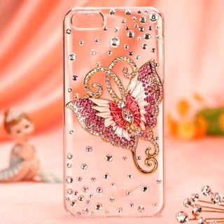 BasAcc Butterfly Crystal 3D Diamante Case Cover for iPhone 5/5S - Pin