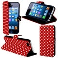BasAcc Red Polka Dots Case with Magnetic Flap for Apple iPhone 5