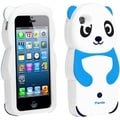 BasAcc Sky Blue Panda Silicone Case for Apple iPhone 5