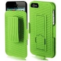 BasAcc Neon Green Hybrid Holster with Clip for Apple iPhone 5