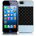 BasAcc White/ Black Diamond Metal Case for Apple iPhone 5