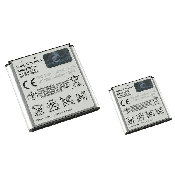Sony Ericsson Rechargeable OEM BST-38 Battery for Sony Ericsson W580/ K850/ K858 (Pack of 2)