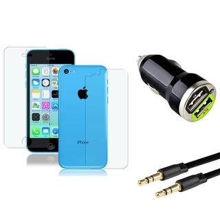 BasAcc LCD Protector/ Car Charger / 3.5mm Cable for Apple iPhone 5C