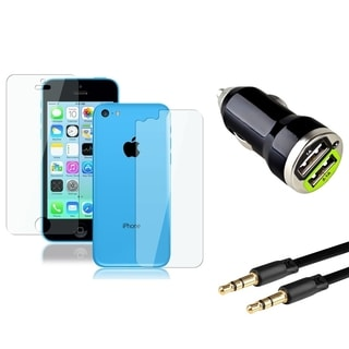INSTEN LCD Protector/ Car Charger / 3.5mm Cable for Apple iPhone 5C