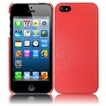 BasAcc Red Leather Texture Back Case for Apple iPhone 5