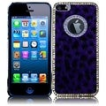 BasAcc Purple Leopard Executive Metal Diamond Case for Apple iPhone 5