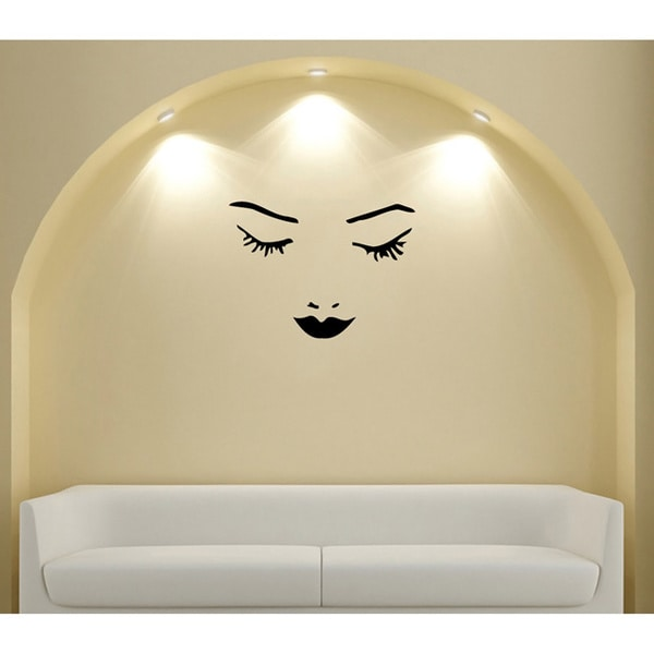Girls Face & Lips Vinyl Wall Decal