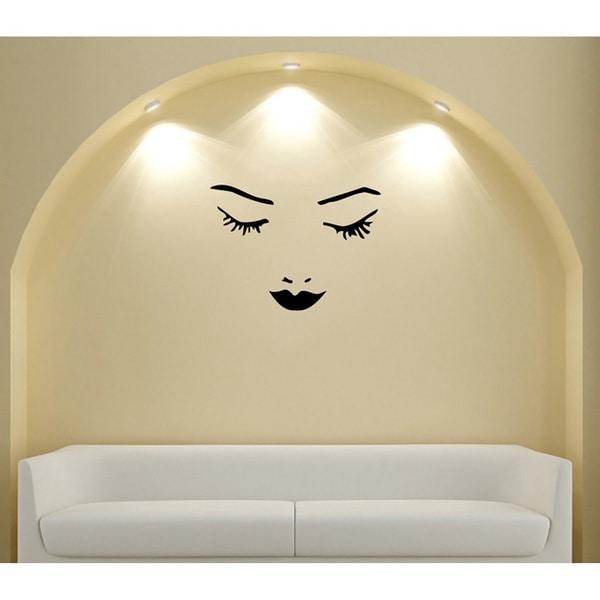 Girls Face & Lips Vinyl Wall Decal