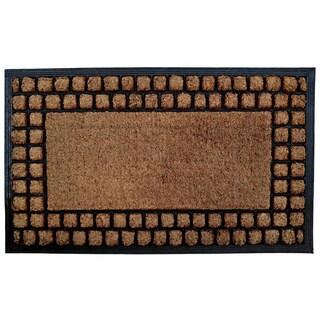 Checker Border Coir/ Rubber Door Mat