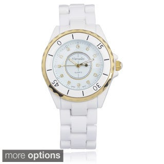 Varsales Women's Ceramic Link Watch