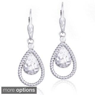 Mondevio Sterling Silver Teardrop Dangling Earrings