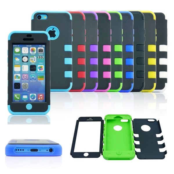 Gearonic Hard PC Soft Silicone Case Cover For Apple iPhone 5CApple iPhone 5C