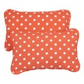 Orange Dots Corded 13 x 20 inch Indoor/ Outdoor Throw Pillows (Set of 2)