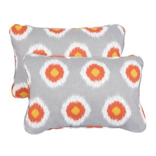 Ikat Citrus Dots Corded 13 x 20 inch Indoor/ Outdoor Throw Pillows (Set of 2)