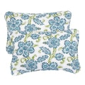 Aqua Floral Corded 13 x 20 inch Indoor/ Outdoor Throw Pillows (Set of 2)