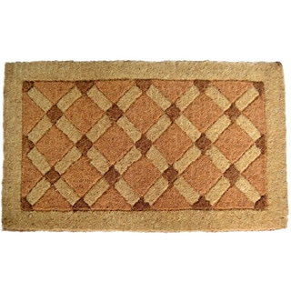 Cross Board Coir Door Mat