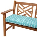 Linked Aqua 60-inch Indoor/ Outdoor Corded Bench Cushion
