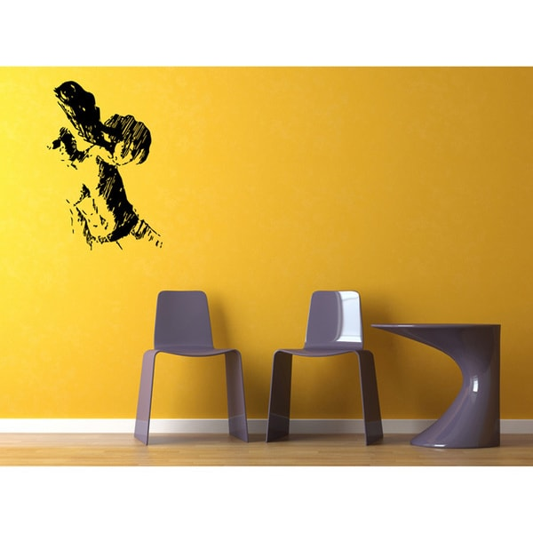 Guy with Gun Vinyl Wall Decal