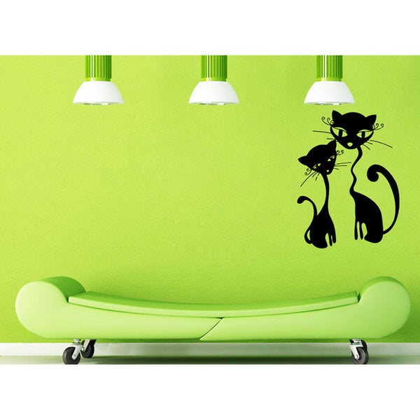 Kittens in Love Vinyl Wall Decal
