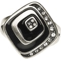 Amabel Designs Art Deco Inspired Silver and Black Ring