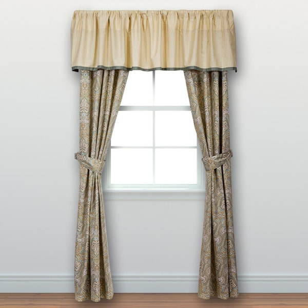 Laura Ashley Berkley 84 inch Curtain Panel Pair