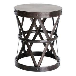 Hammered Drum Cross Dark Bronze Table/Stool